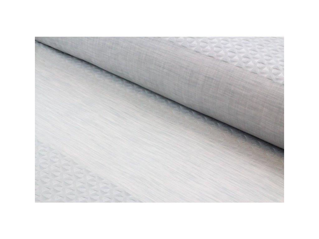 Dekorační látka s vodorovnými pruhy šíře 145 cm šedá