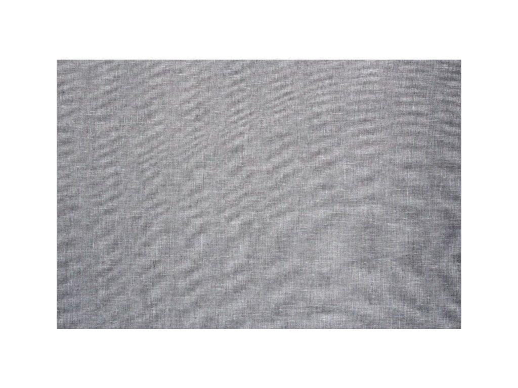 Dekorační látka s olůvkem výška 290 cm šedá