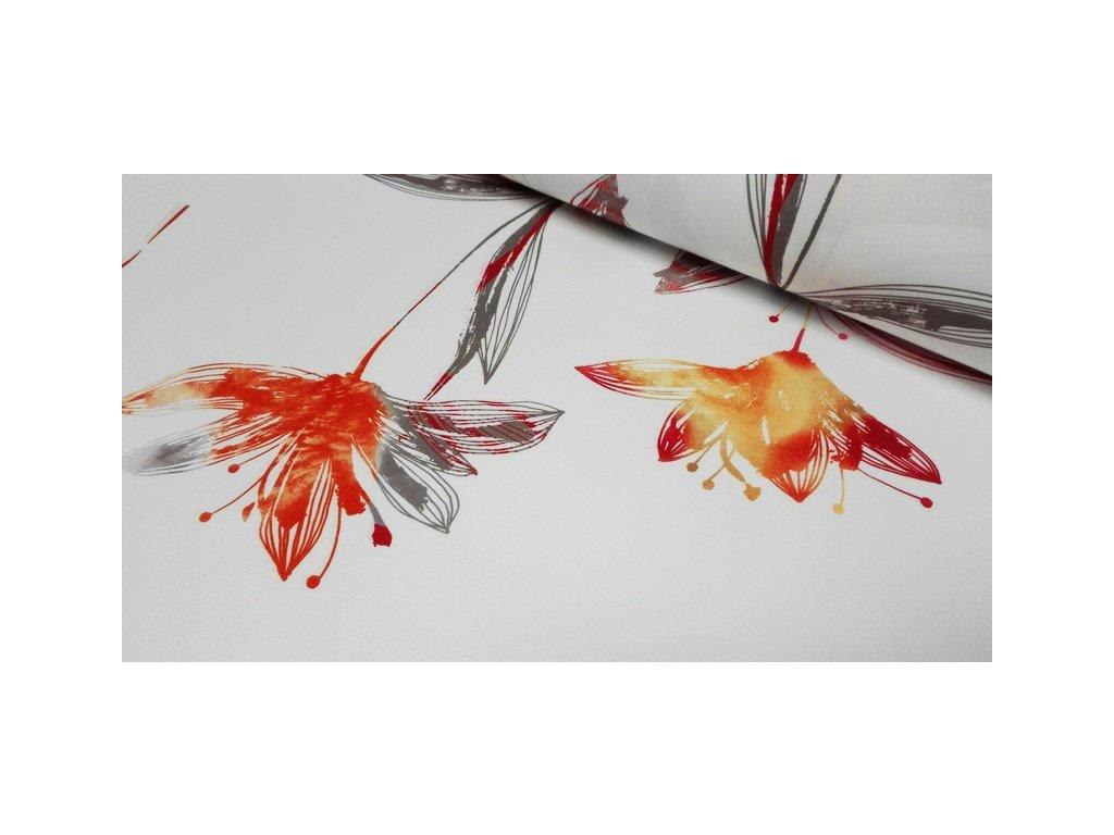 Dekorační látka Pauline 18 šíře 140 cm oranžová