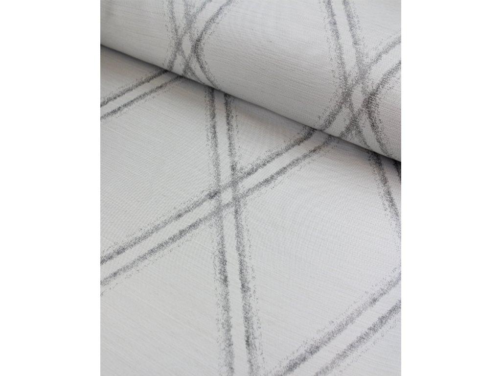 Dekorační látka moderní vzor v odstínech šedé šíře 140 cm