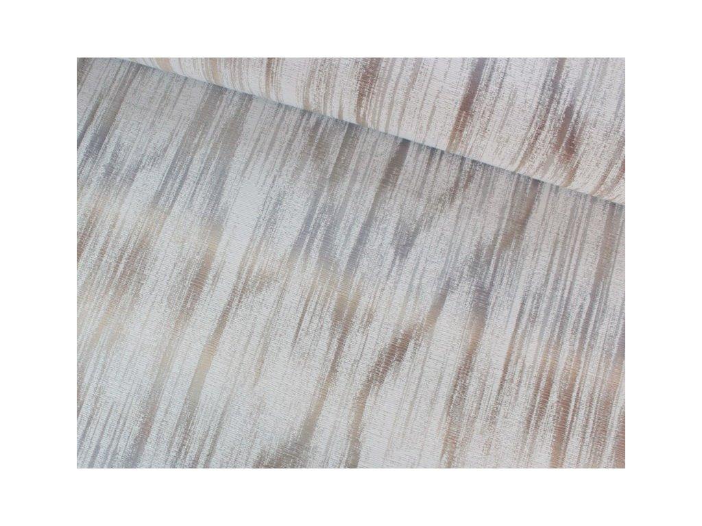 Dekorační látka melírovaná se vzorem šíře 140 cm béžová/šedá