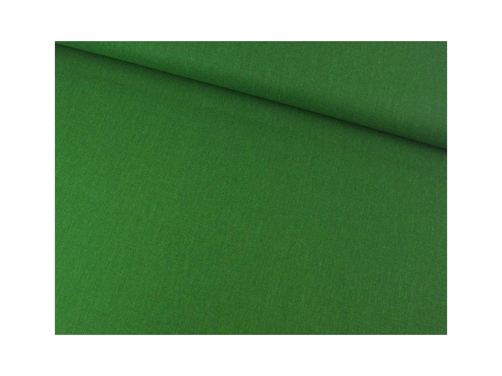 Dekorační látka jednobarevná 07299-077 šíře 140 cm tmavě zelená