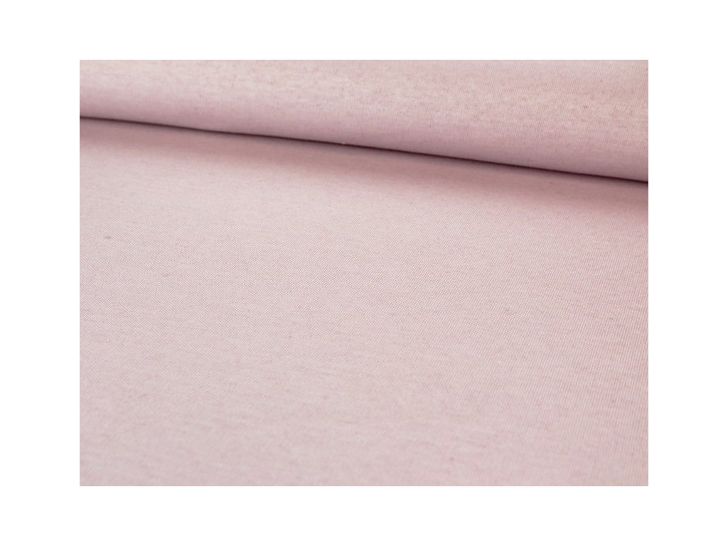 Dekorační látka bez vzoru melírovaná šíře 140 cm starorůžová