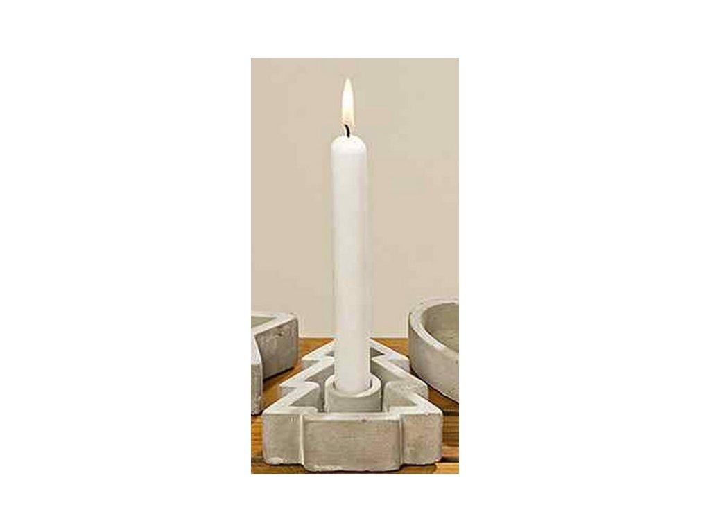 Betonový svícen stromeček 11x10x3,5 cm šedý