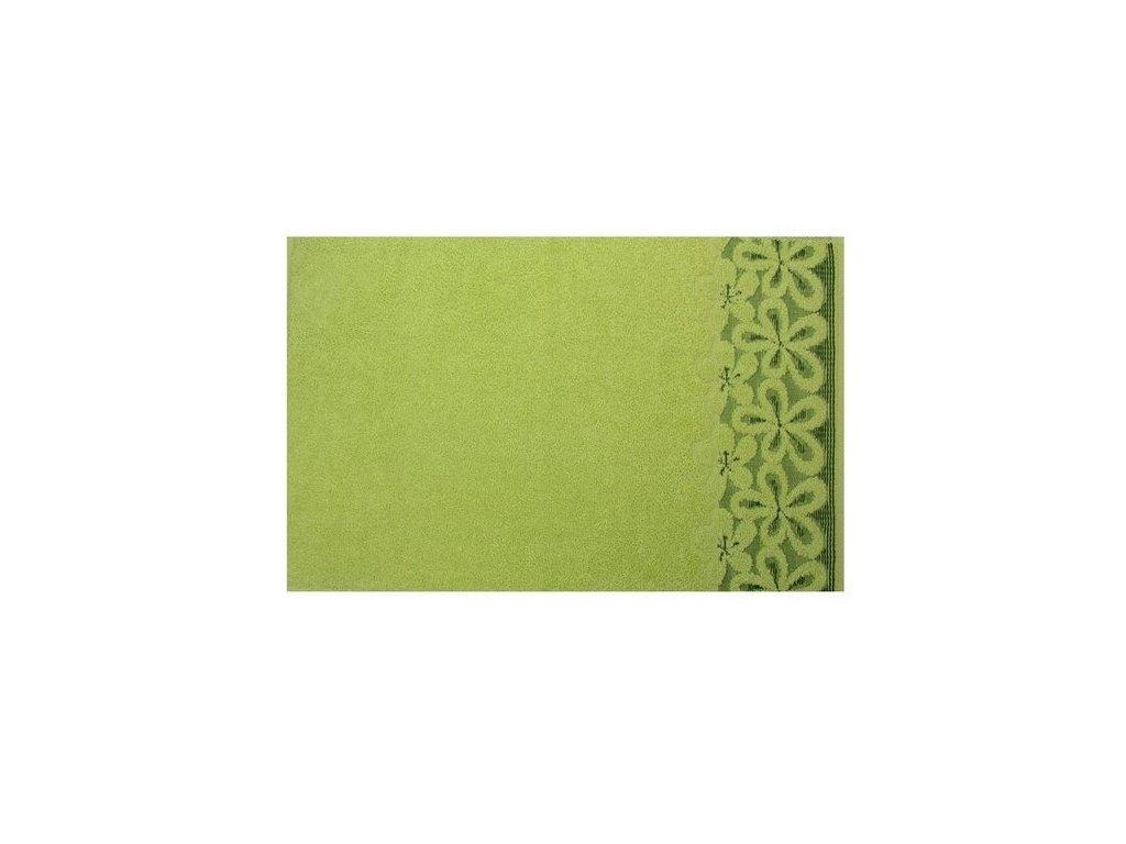 Bavlněný ručník malý Bella 30x50 cm pistáciový