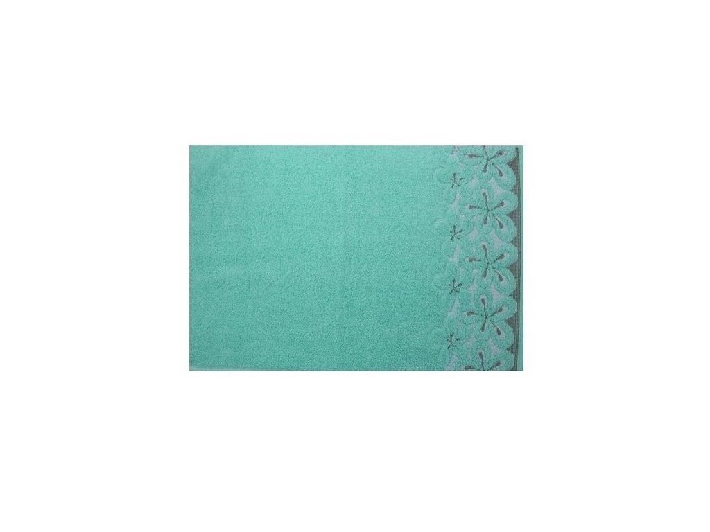 Bavlněný ručník malý Bella 30x50 cm mentolový