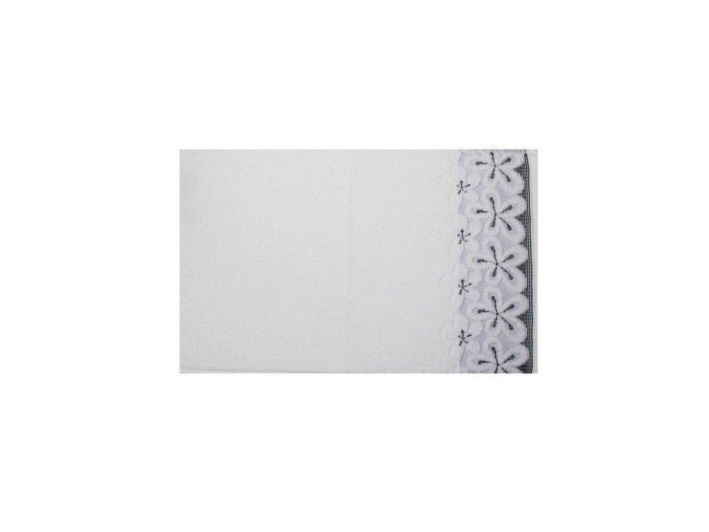 Bavlněný ručník malý Bella 30x50 cm bílý