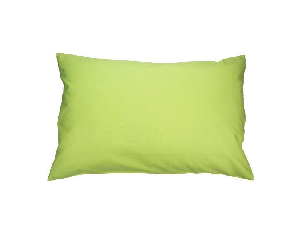 Bavlněný povlaky jednobarevný 40x60 cm světle zelený
