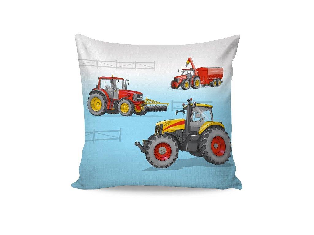 Bavlněný povlak Traktor 40x40 cm