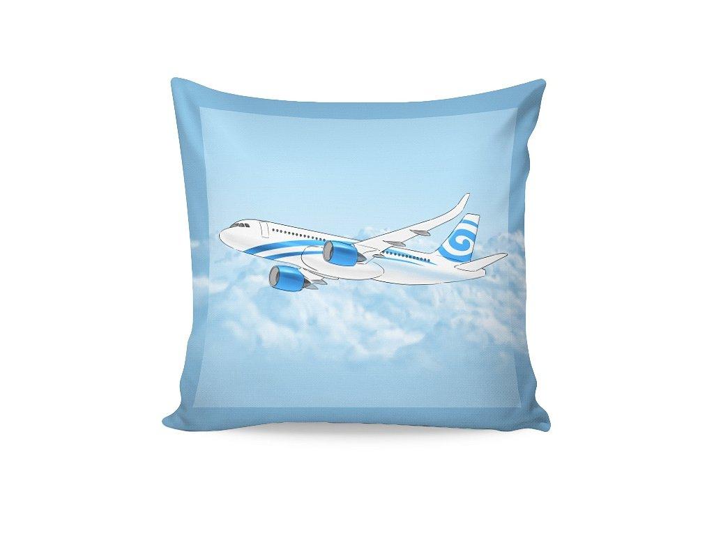 Bavlněný povlak Letadlo 40x40 cm