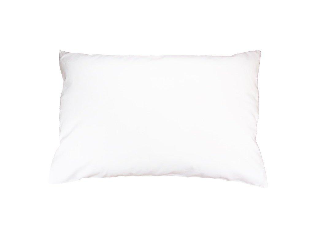 Bavlněný povlak jednobarevný 40x60 cm bílý