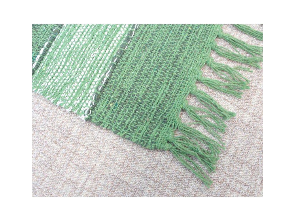 Bavlněný kobereček s třásněmi 50x80 cm zelený