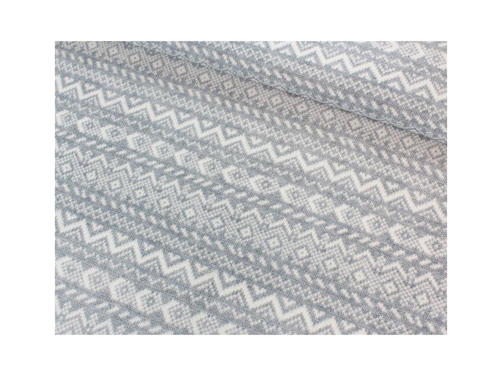 Bavlněná látka šíře 140 cm šedá