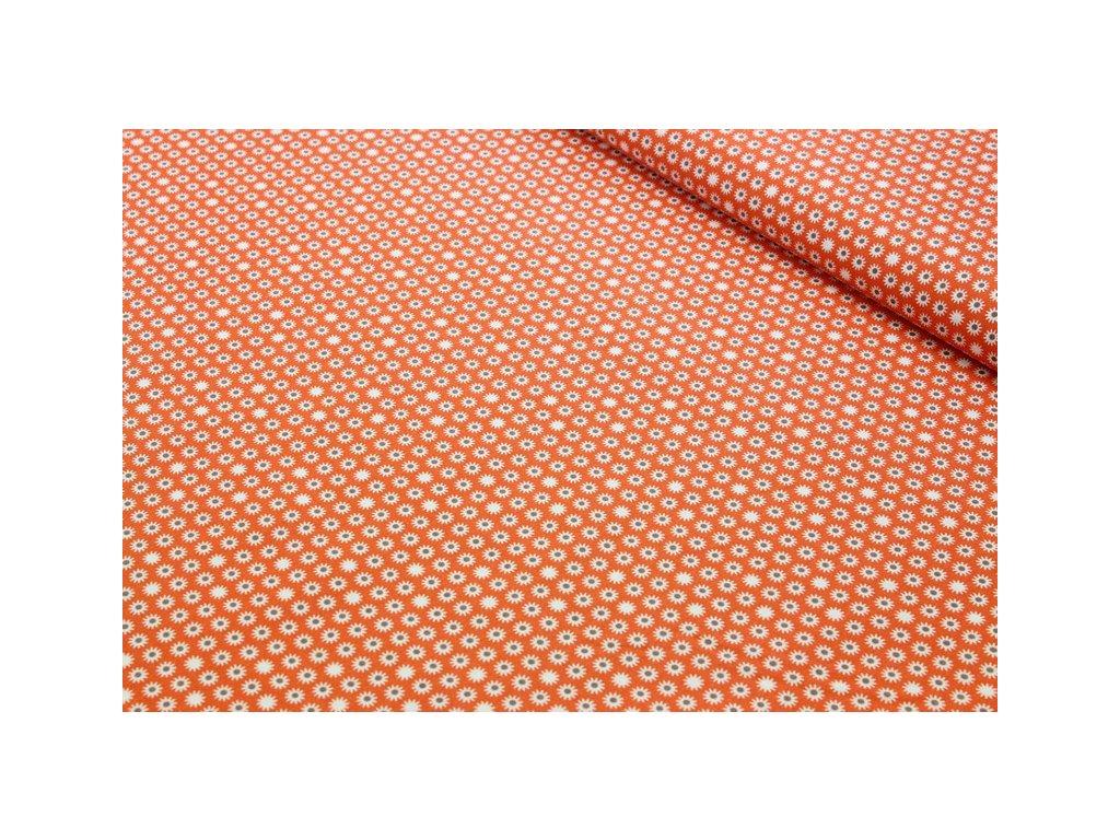 Bavlněná látka s drobným vzorem šíře 160 cm