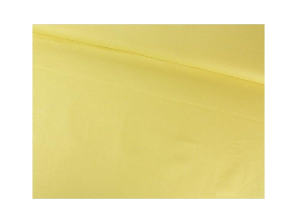 Bavlněná látka jednobarevná šíře 150 cm žlutá