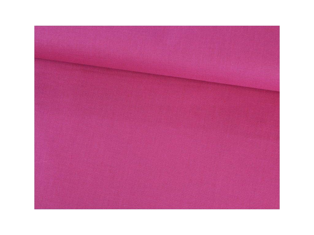 Bavlněná látka jednobarevná šíře 150 cm tmavě růžová