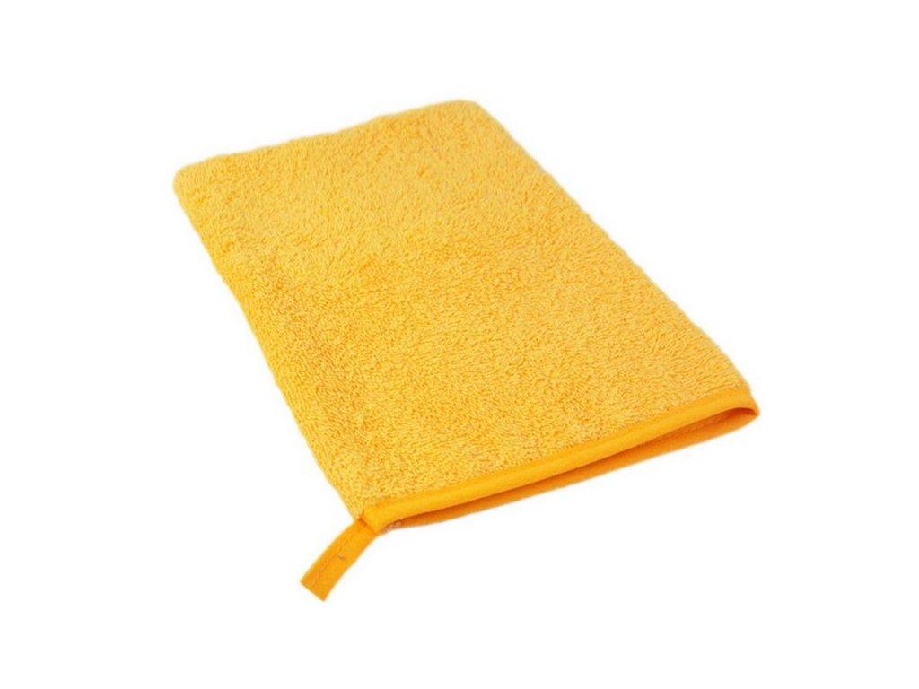 Bavlněná froté žinka žlutá