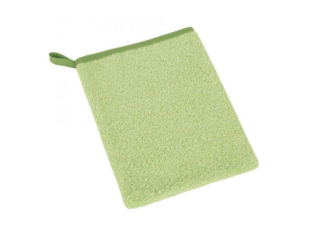 Bavlněná froté žinka světle zelená