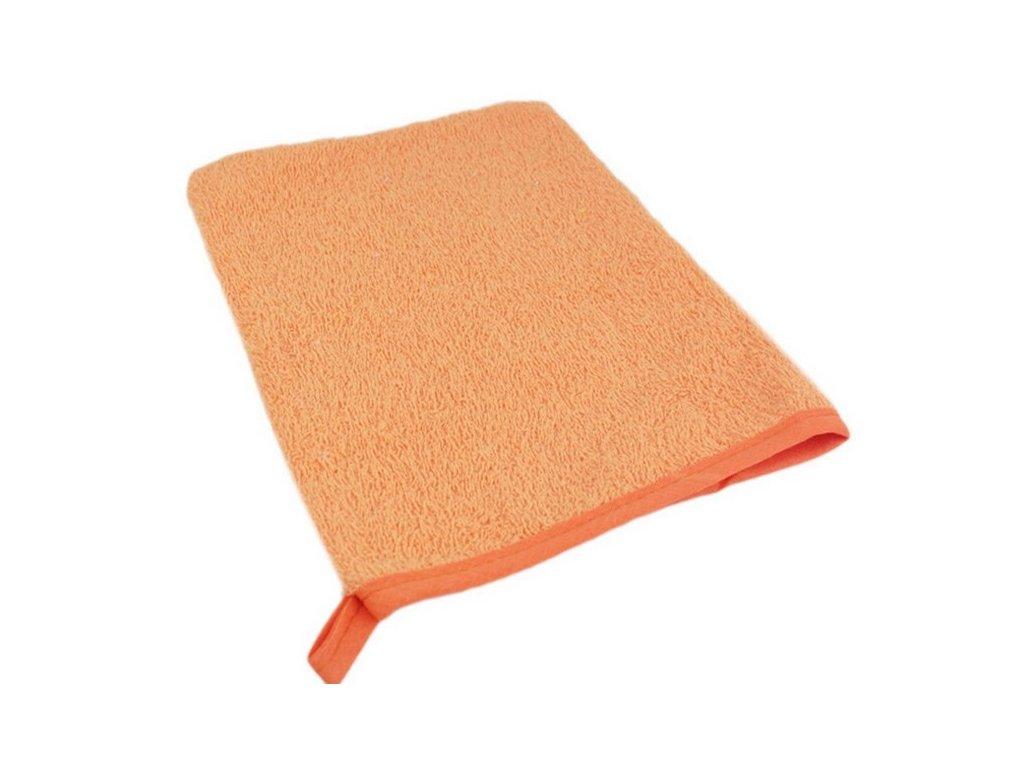 Bavlněná froté žinka oranžová