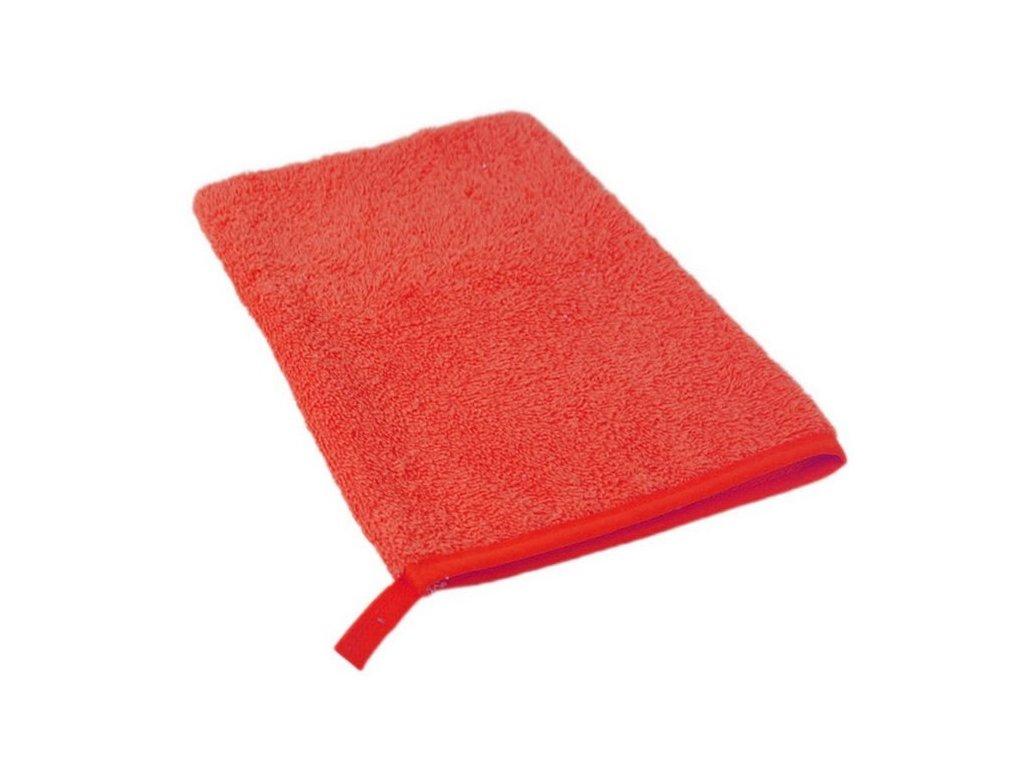Bavlněná froté žinka červená