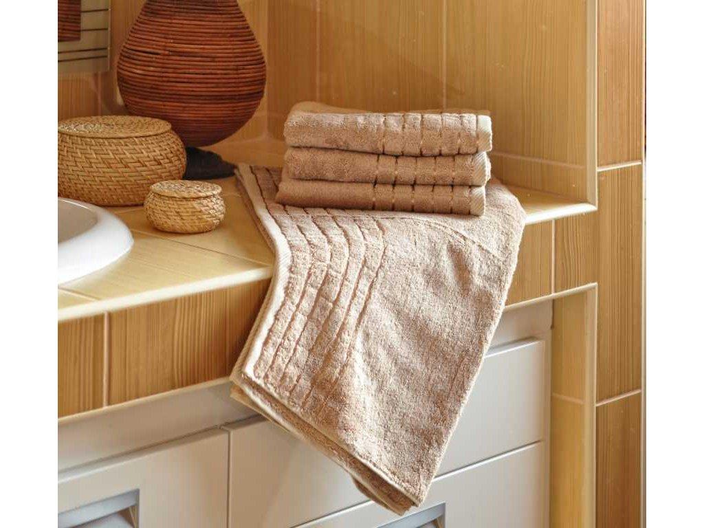 Bambusový ručník 50x100 cm 600g/m2 béžový