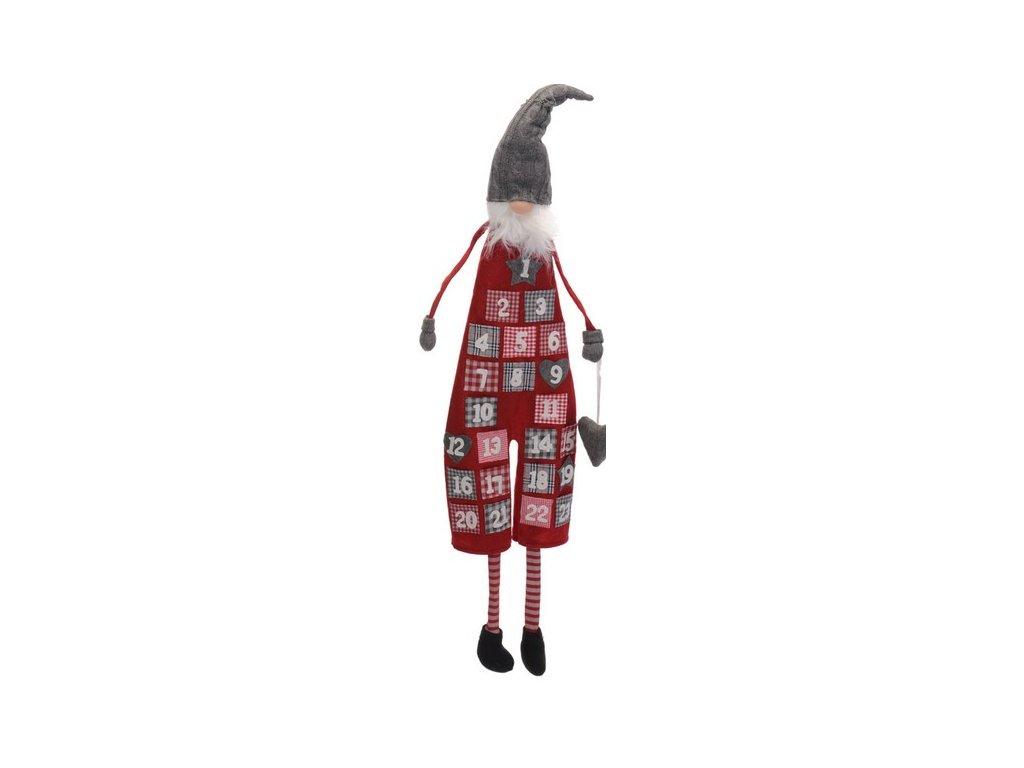 Adventní kalendář k zavěšení s kapsičkami-tmavý výška 125 cm