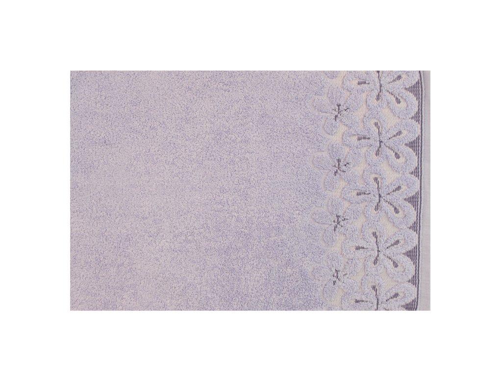 Bavlněný ručník malý Bella 30x50 cm levandulový