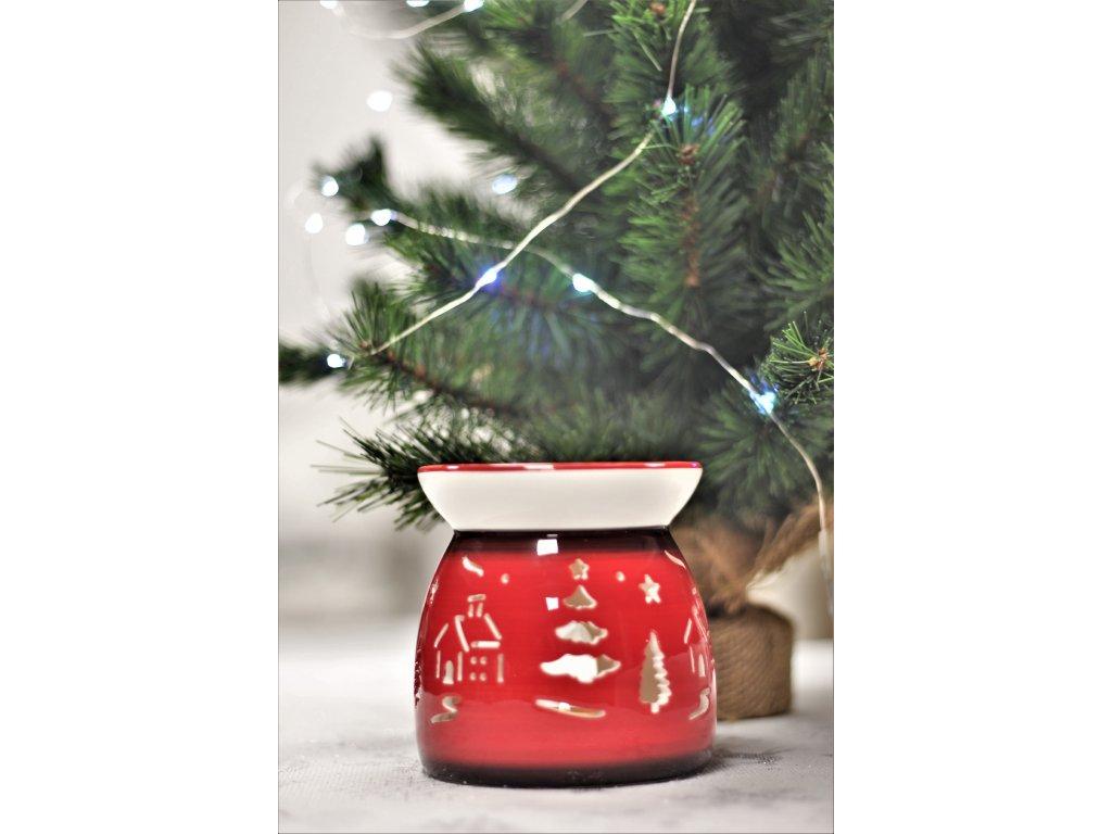 Vánoční aroma lampa červená