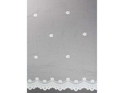 Žakárová záclona s jemným vzorem bílá