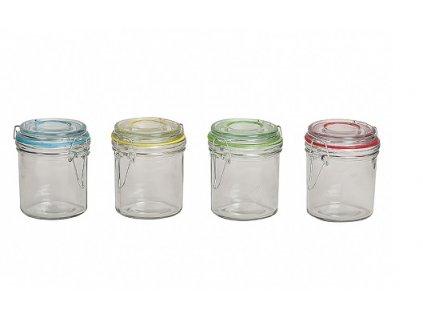 Zavařovací sklenice na marmeládu 0,25 l modrá