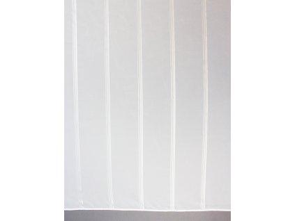 Voálová záclona se stříbrným proužkem výška 295 cm