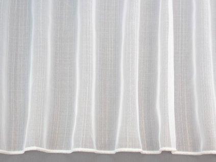 Voálová záclona s olůvkem bílá