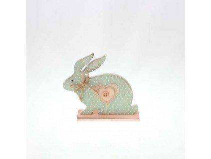 Velikonoční dekorace zajíc dřevený zelený výška 13 cm|zelený