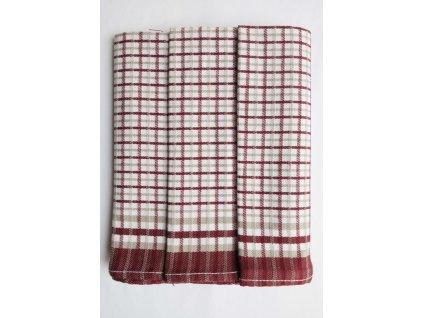 Utěrky Egyptská bavlna č.26 3ks 50x70 bordó