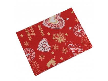 Utěrka s vánočním motivem 50x70 cm červená