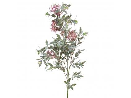 Umělá květina výška 75 cm zelená/růžová