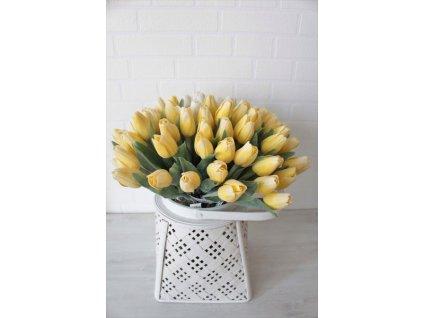 Umělá květina tulipán výška 39 cm žlutý