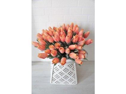 Umělá květina tulipán výška 39 cm oranžový