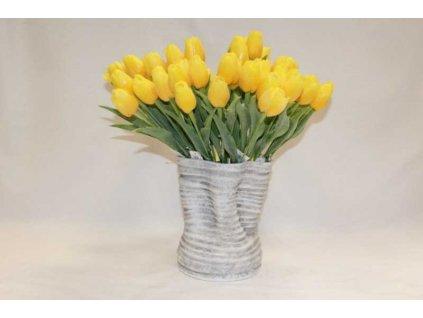Umělá květina tulipán 44 cm žlutý