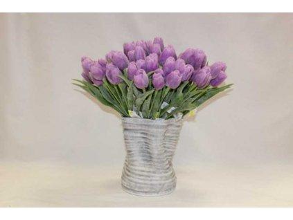 Umělá květina tulipán 44 cm fialový