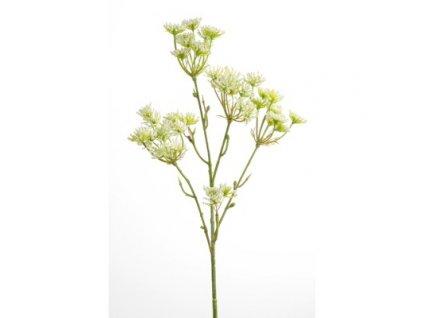 Umělá květina Trachelium kremová