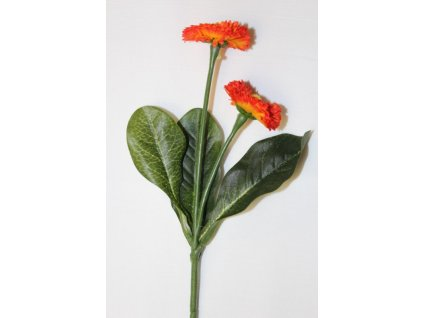 Umělá květina Sedmikráska oranžová