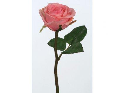 Umělá květina Růže růžová