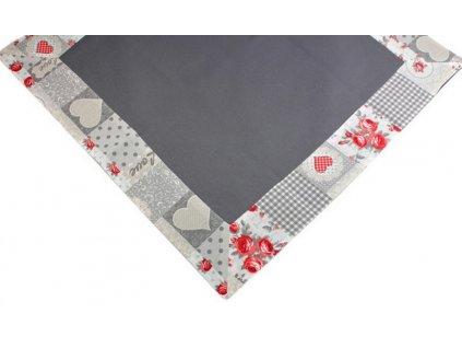 Ubrus s lemem 120x120 cm šedá/červená