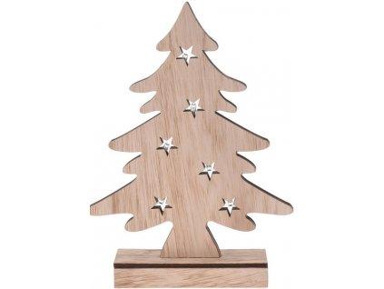 Svítící vánoční stromeček dřevěný 5x27x37 cm přírodní