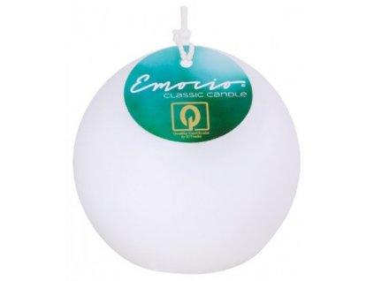 Svíčka Emocio Classic koule 8 cm 215g bílá