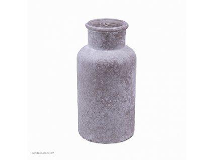 Skleněná váza šedá 16,3 cm