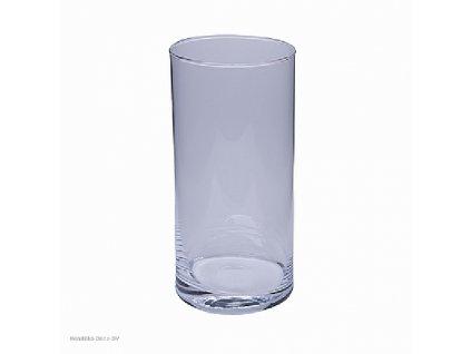 Skleněná váza čirá 22 cm