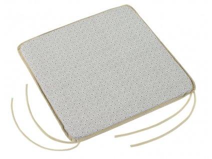 Sedák hladký s úvazy 40x40 cm mandaly šedé
