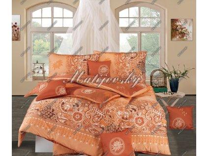 Povlečení Matějovský bavlna DELUXE Afrodite terracota 70x90, 140x220|220